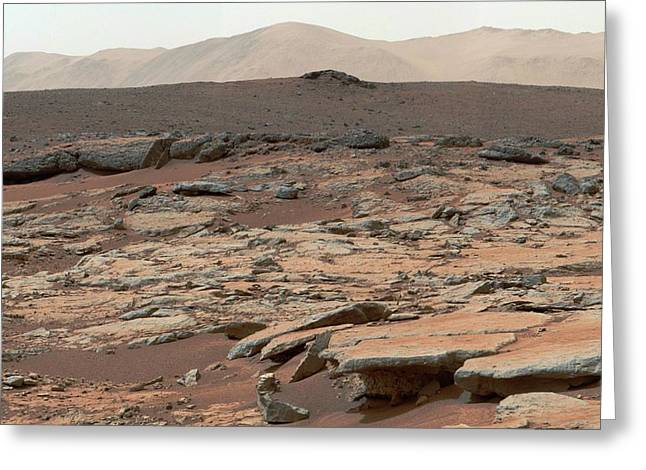 Erosion On Mars Greeting Card