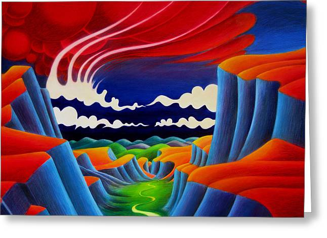 Greeting Card featuring the painting Escalante by Richard Dennis