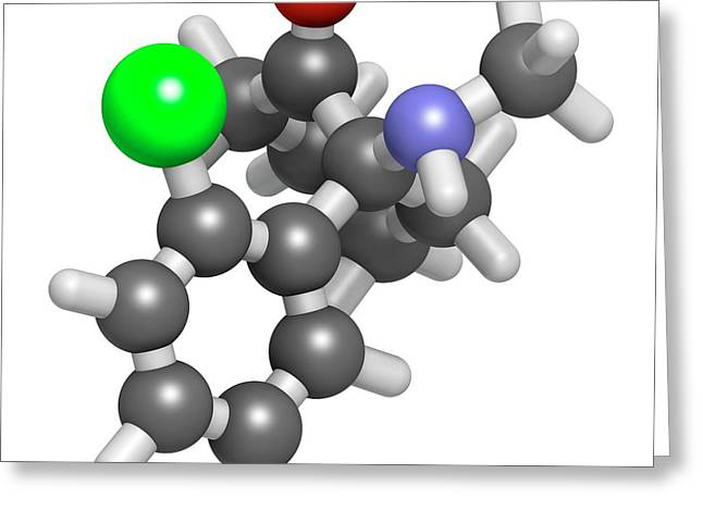 Esketamine Drug Molecule Greeting Card