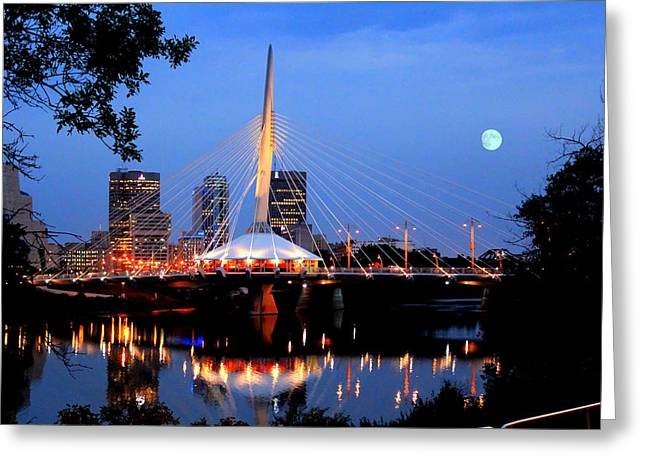 Greeting Card featuring the photograph Esplanade Riel by Larry Trupp