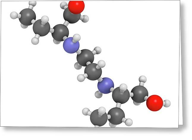 Ethambutol Tuberculosis Drug Molecule Greeting Card by Molekuul