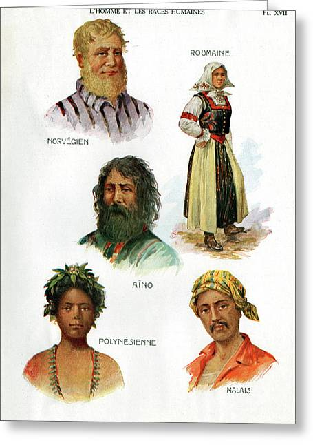 Ethnic Groups Greeting Card by Cci Archives