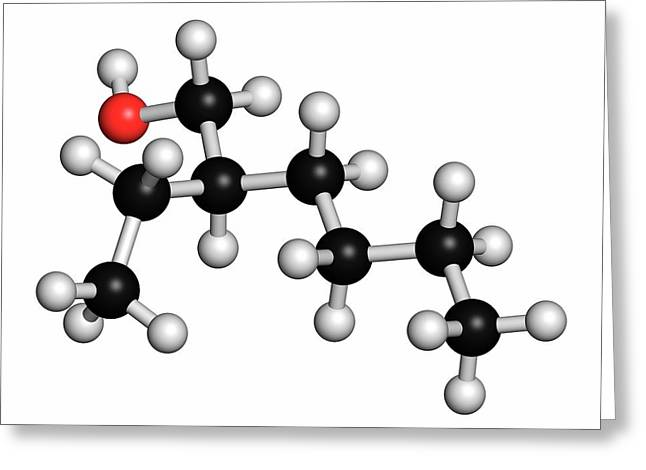 2-ethylhexanol Molecule Greeting Card by Molekuul
