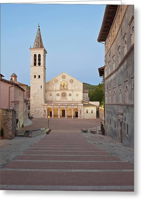 Europe, Italy, Umbria, Spoleto, Duomo Greeting Card by Rob Tilley