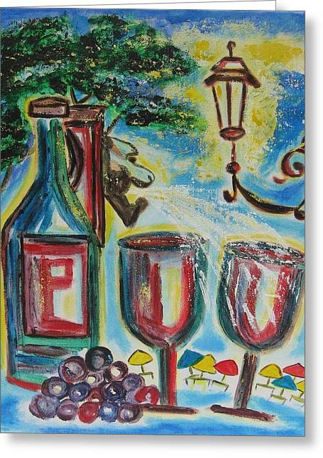 European Wine Greeting Card by Diane Pape