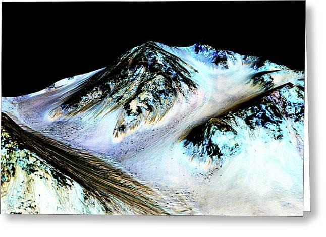 Evidence Of Water On Mars Greeting Card