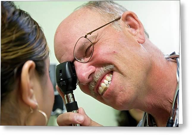Eye Examination Greeting Card by Jim West