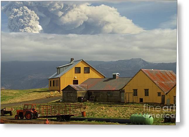 Eyjafjallaj�kull Ash Cloud, Iceland Greeting Card by Stephen & Donna O'Meara