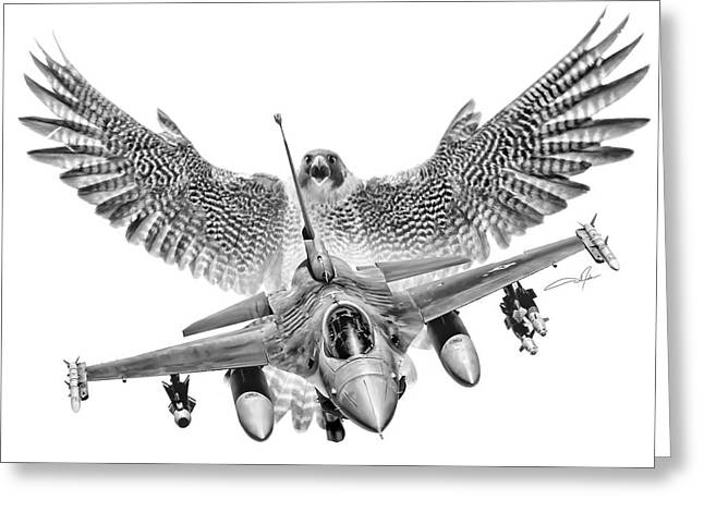 F-16 Fighting Falcon Greeting Card by Dale Jackson