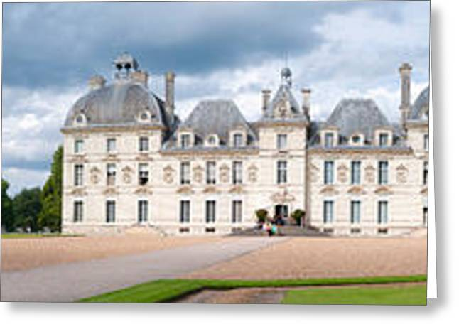 Facade Of A Castle, Chateau De Greeting Card