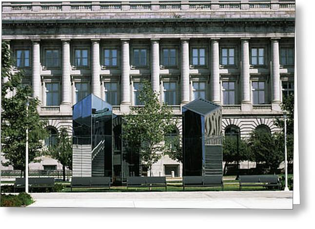 Facade Of City Hall, Cleveland, Ohio Greeting Card