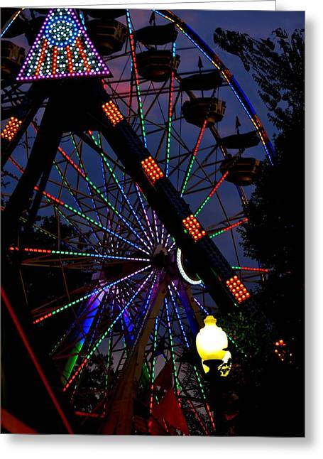 Fall Festival Ferris Wheel Greeting Card by Deena Stoddard