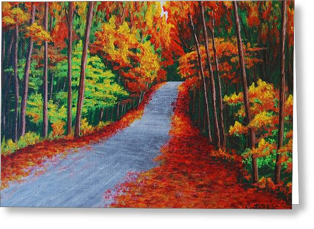 Fall In New Hampshire Greeting Card