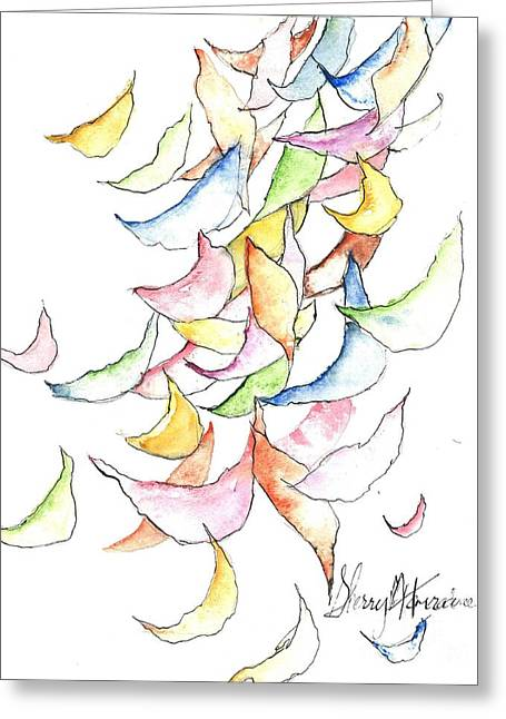 Falling Into Place Greeting Card