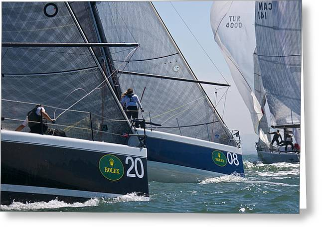Farr 40 Action Greeting Card
