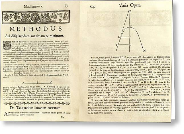Fermat's Tangent Method Greeting Card by Royal Astronomical Society
