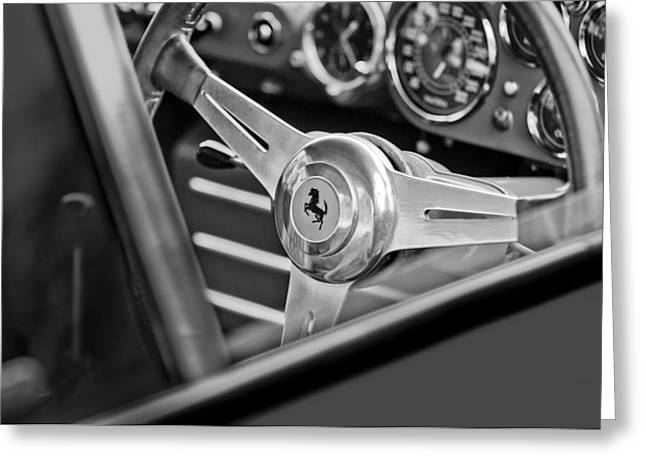 Ferrari Steering Wheel Greeting Card by Jill Reger