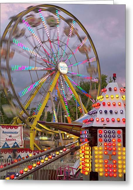 Ferris Wheel Fairground Ride Greeting Card