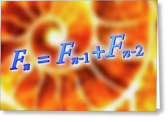 Fibonacci Sequence Equation Greeting Card by Alfred Pasieka