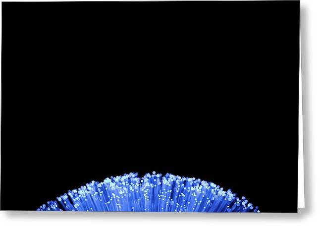 Fibre Optics Greeting Card by Science Photo Library