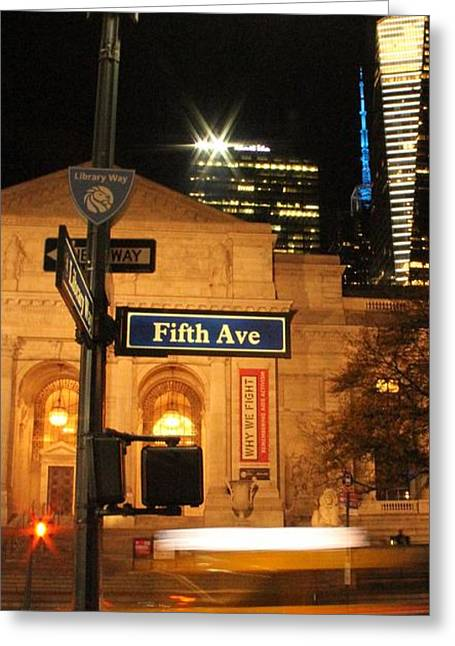 Fifth Avenue Greeting Card by Dan Sproul