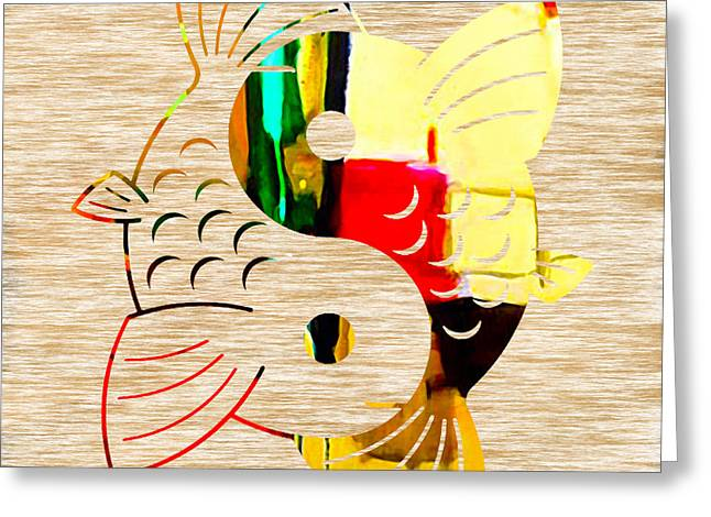 Finding Good Balance Greeting Card by Marvin Blaine
