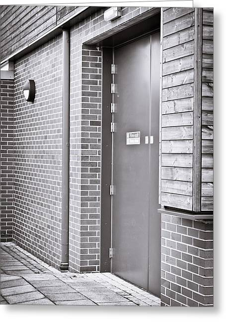 Fire Exit Greeting Card by Tom Gowanlock