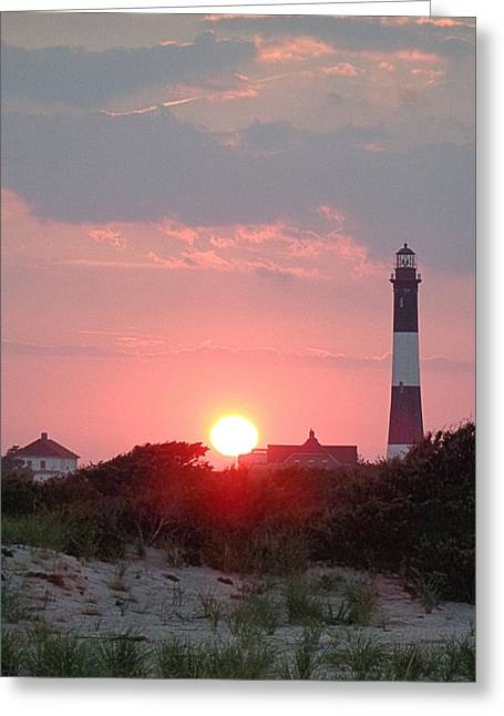 Fire Island Sunset Greeting Card