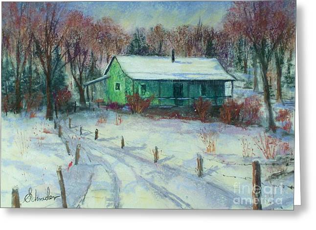 First Snow Greeting Card by Bruce Schrader