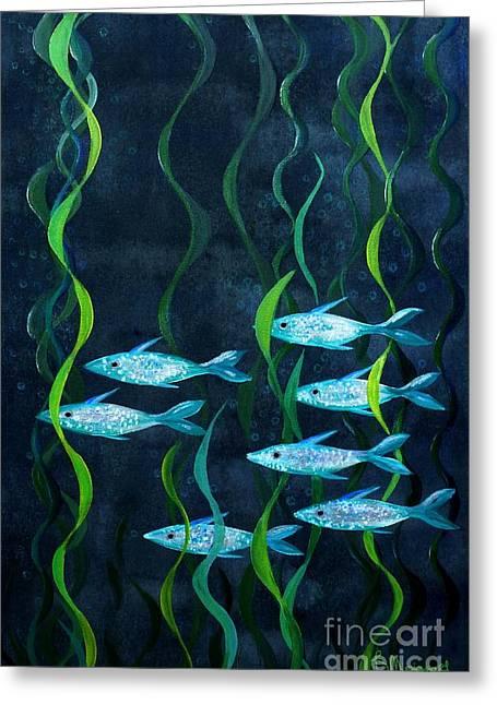 Fish Greeting Card by Barbara Moignard