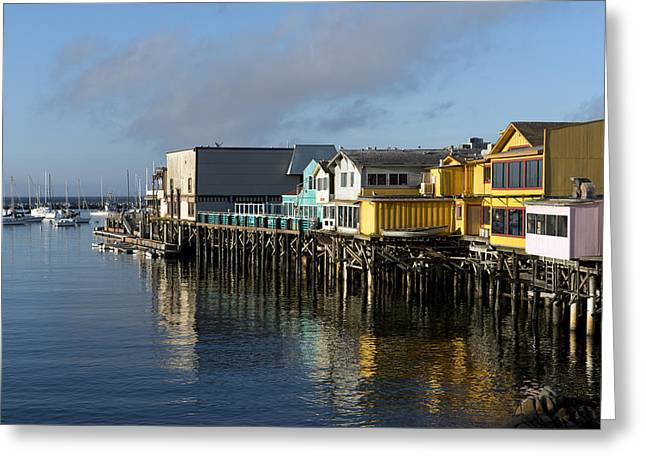 Fishermans Wharf In Monterey Bay Greeting Card by Carol M Highsmith