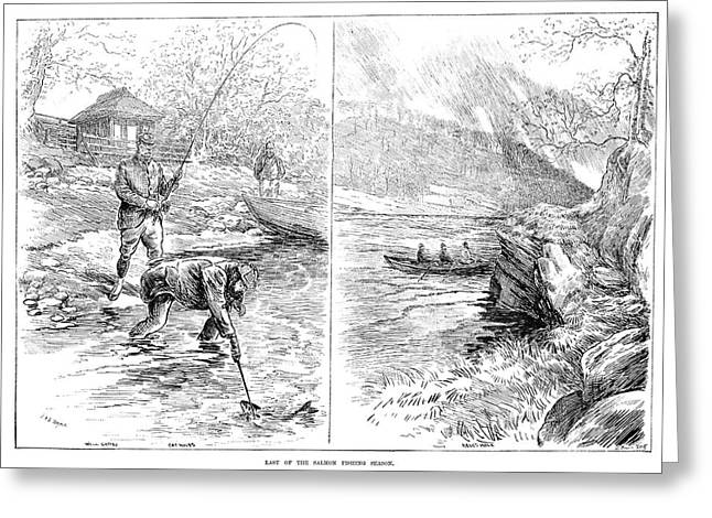 Fishing, 1887 Greeting Card
