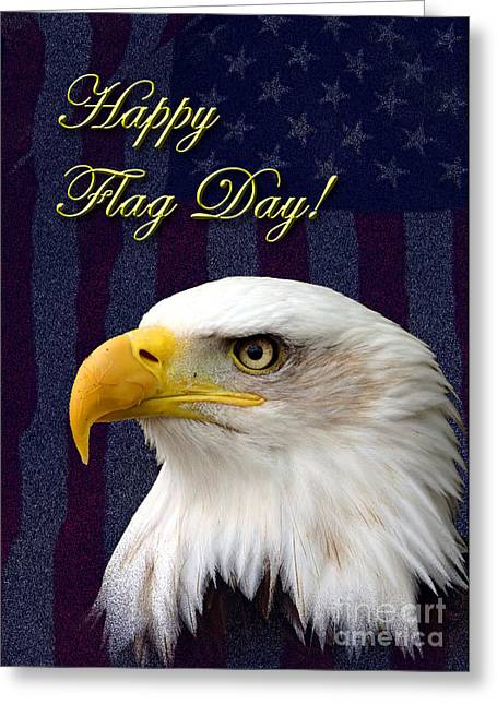 Flag Day Eagle Greeting Card by Jeanette K