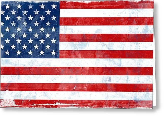 Flag Of Usa Greeting Card by Modern Art Prints
