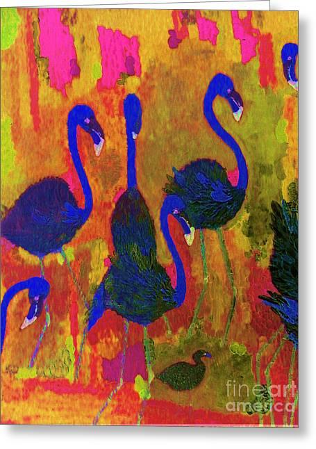 Flamingos 1 Greeting Card
