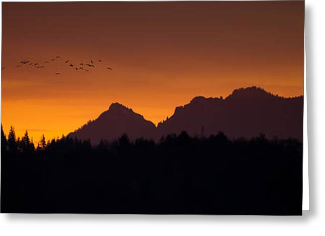 Flight To Saddle Mountain Greeting Card