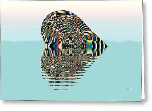 Floating Heart Greeting Card by Kiki Art
