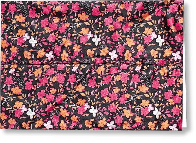 Floral Pattern Greeting Card by Tom Gowanlock