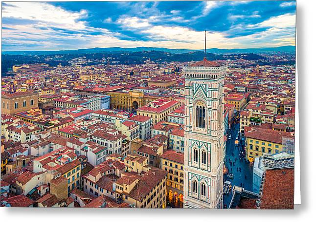 Florence Greeting Card by Cory Dewald