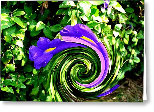 Flower Abstract Study-2 Greeting Card by Anand Swaroop Manchiraju