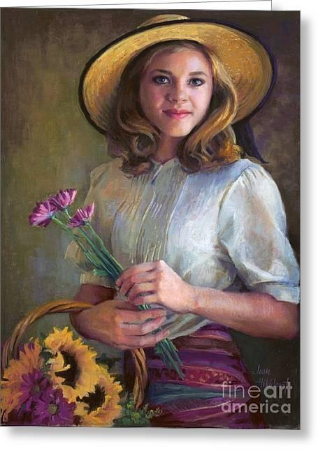 Flower Peddler Greeting Card
