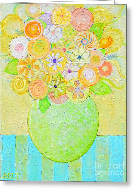 Flowers In Heaven Greeting Card by Christine Belt