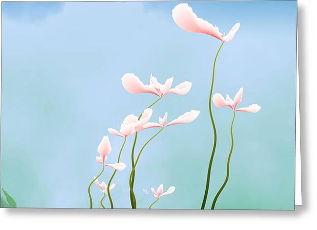 Flowers Of Peace Greeting Card by GuoJun Pan