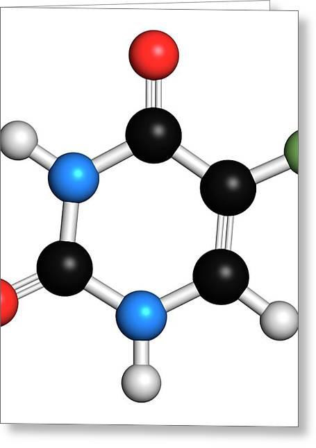 Fluorouracil Cancer Drug Molecule Greeting Card