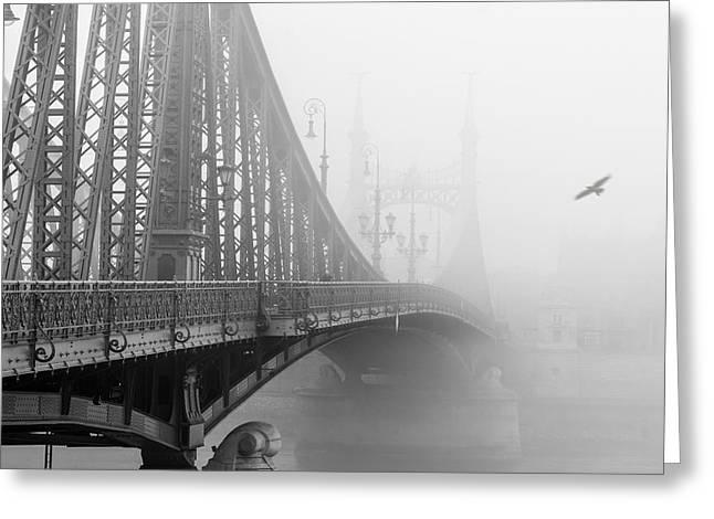 Foggy Day In Budapest Greeting Card by Ayhan Altun
