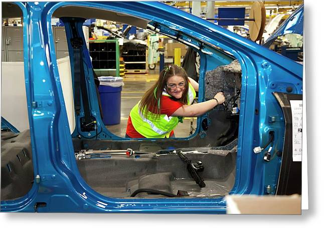 Ford Focus Assembly Line Greeting Card