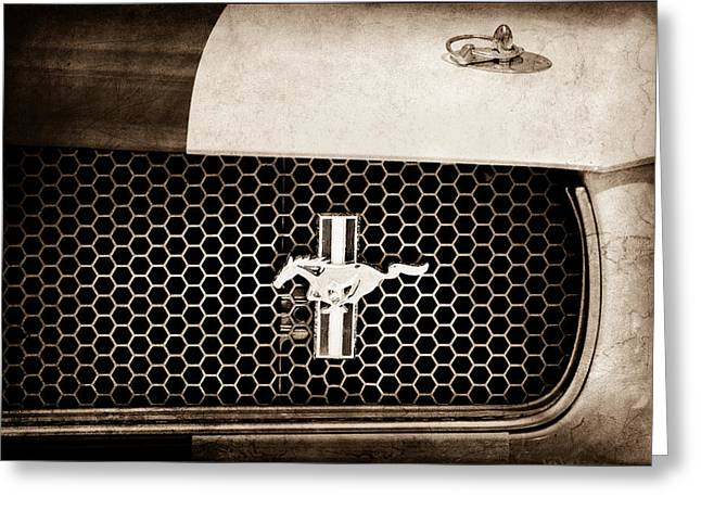 Ford Mustang Gt 350 Grille Emblem Greeting Card by Jill Reger