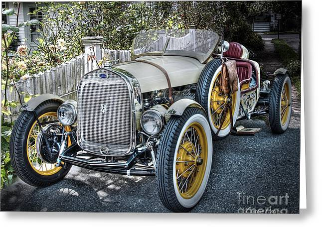 Ford Roadster Greeting Card by Louise Reeves