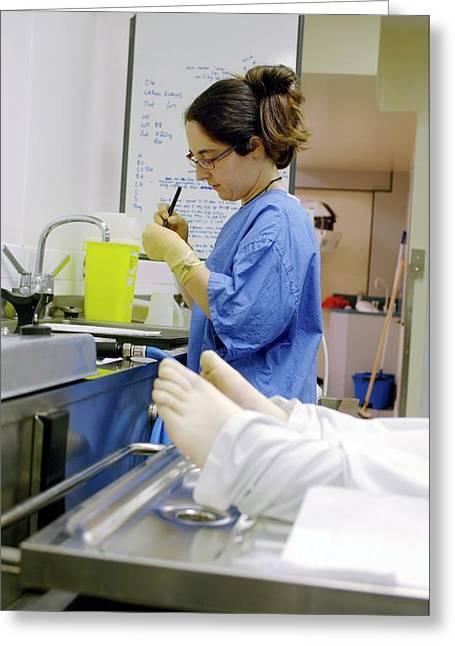 Forensics Fingerprinting Material Testing Greeting Card
