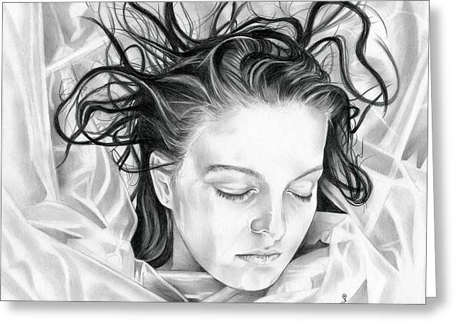 Forget Me Not - Laura Palmer - Twin Peaks Greeting Card by Fred Larucci